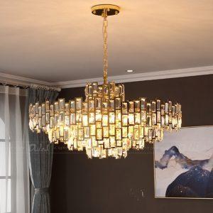 đèn treo pha lê hiện đại